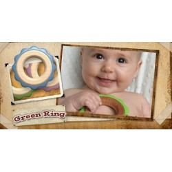 Begin Again Toys Green Ring Teether